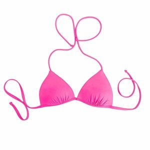 Hot pink triangle bikini top small